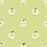 Nahtloses Muster mit Äpfeln Stockbild