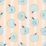 Nahtloses Muster mit Äpfeln Lizenzfreies Stockbild