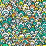 Nahtloses Muster mit abstrakte stilisierte Hand gezeichneter Skalabeschaffenheit stockfotografie