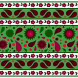 Nahtloses Muster mit abstrakten Blumen stock abbildung