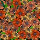 Nahtloses Muster mit abstrakten Blumen Stockbild
