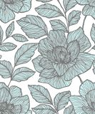 Nahtloses Muster mit abstrakten Blumen Kreativer Blumenoberfl?chenentwurf Entwurf f?r Gewebe, Tapete, wickelnd, Abdeckung ein vektor abbildung