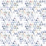 Nahtloses Muster mit abstrakten geometrischen Dreiecken Lizenzfreie Stockfotos