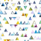Nahtloses Muster mit abstrakten geometrischen Dreiecken Stockfoto
