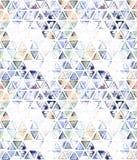 Nahtloses Muster mit abstrakten geometrischen Dreiecken Stockfotografie