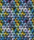 Nahtloses Muster mit abstrakten geometrischen Dreiecken, Bienenbienenwabe Lizenzfreie Stockbilder