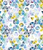 Nahtloses Muster mit abstrakten geometrischen Dreiecken, Bienenbienenwabe Lizenzfreies Stockfoto