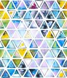 Nahtloses Muster mit abstrakten geometrischen Dreiecken, Bienenbienenwabe Lizenzfreies Stockbild
