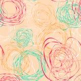 Nahtloses Muster mit abstrakten lustigen Gekritzeln Lizenzfreies Stockfoto