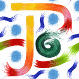 Nahtloses Muster mit abstrakten Pastellgekritzeln Lizenzfreie Stockfotos