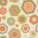Nahtloses Muster mit abstrakten Sonnenschirmen. Stockfotografie
