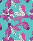 Nahtloses Muster mit abstrakter Callalilie Lizenzfreie Stockfotos