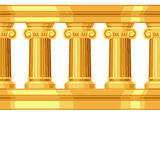 Nahtloses Muster mit antikem Ionengriechen Lizenzfreies Stockfoto