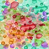 Nahtloses Muster mit Aquarell befleckt zum Gewebe oder zur Verpackung Lizenzfreies Stockfoto
