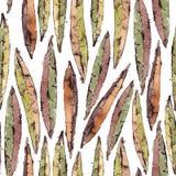 Nahtloses Muster mit Aquarell Willow Leaves Stockbilder