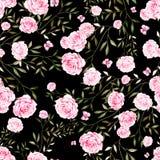 Nahtloses Muster mit Aquarellrosenblumen Lizenzfreie Stockfotografie