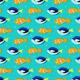 Nahtloses Muster mit Aquariumfischen stock abbildung
