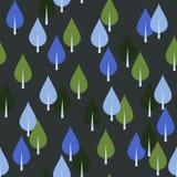 Nahtloses Muster mit Bäumen oder Blättern Lizenzfreies Stockbild