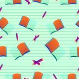 Nahtloses Muster mit Büchern Stockbild