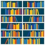Nahtloses Muster mit Büchern Stockfoto