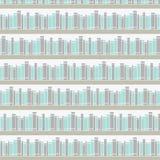 Nahtloses Muster mit Büchern auf einem Bücherregal Lizenzfreies Stockfoto