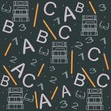 Nahtloses Muster mit Büchern in der flachen Designart Lizenzfreie Stockbilder