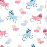 Nahtloses Muster mit Babydesign Stockfotos