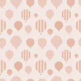 Nahtloses Muster mit Ballonen. Stockfoto