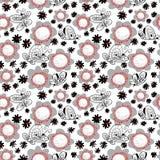 Nahtloses Muster mit Basisrecheneinheiten Hintergrund mit Fliegen beauti Lizenzfreies Stockfoto