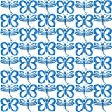 Nahtloses Muster mit Basisrecheneinheiten und Libellen Vektor Illust Lizenzfreies Stockfoto
