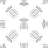 Nahtloses Muster mit Behälter stockbild