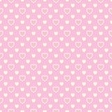 Nahtloses Muster mit beige Herzen auf rosa Hintergrund Lizenzfreies Stockfoto