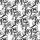 Nahtloses Muster mit Beschriftung Hoffnung vektor abbildung