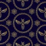 Nahtloses Muster mit Biene Stockfoto