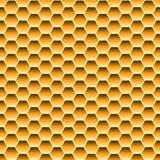 Nahtloses Muster mit Bienenwabe Lizenzfreie Stockfotografie