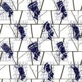 Nahtloses Muster mit Bildern der Pharaos Lizenzfreies Stockbild