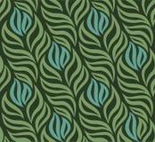 Nahtloses Muster mit Blättern Lizenzfreie Stockfotografie