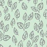 Nahtloses Muster mit Blättern lizenzfreie abbildung