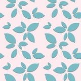 Nahtloses Muster mit Blättern auf rosa Hintergrund vektor abbildung