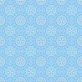 Nahtloses Muster mit blauen Blumen auf blauem Hintergrund Lizenzfreies Stockfoto