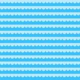 Nahtloses Muster mit blauen Meereswellen Auch im corel abgehobenen Betrag stock abbildung