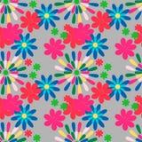 Nahtloses Muster mit Blume Stockbild