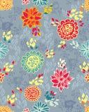 Nahtloses Muster mit Blumen Lizenzfreie Stockfotos
