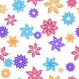 Nahtloses Muster mit Blumen Stockfoto