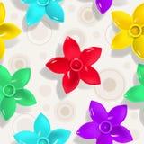 Nahtloses Muster mit Blumen Vektor Abbildung