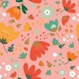 Nahtloses Muster mit Blumen Lizenzfreies Stockfoto