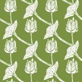 Nahtloses Muster mit Blumen Auch im corel abgehobenen Betrag Lizenzfreies Stockfoto