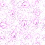 Nahtloses Muster mit Blumen auf einem weißen Hintergrund vektor abbildung