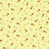 Nahtloses Muster mit Blumen und Blättern vektor abbildung