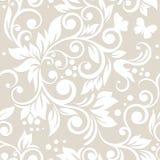 Nahtloses Muster mit Blumen und Blättern Lizenzfreies Stockbild